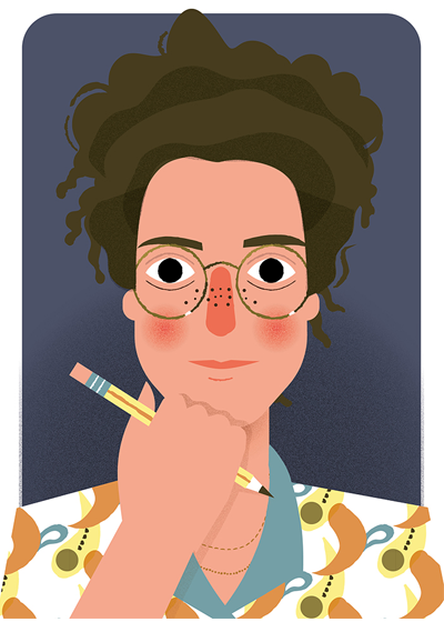 ILLUSTRATORS, ILLUSTRATED: Portrait of Ella Cohen by Bárbara Fonseca
